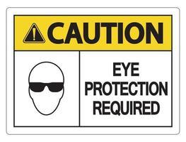 attenzione protezione per gli occhi richiesta segno a muro vettore