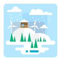 Paesaggio invernale vettore