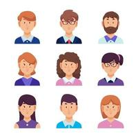 set di avatar di uomini d'affari vettore