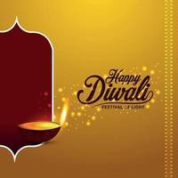 felice diwali festival della luce con il vettore diya