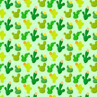 Modello senza cuciture variopinto del cactus di vettore