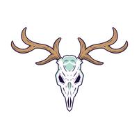 Vettore del cranio dei cervi