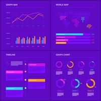 Vettori di elementi di infografica ultravioletti