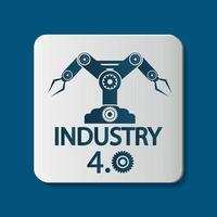 icona di industria 4.0, illustrazione di tecnologia concept.vector vettore