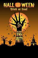 Halloween scatena la festa dei demoni vettore