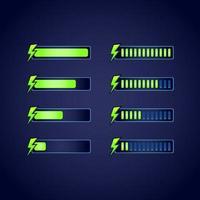 set di barra di avanzamento gui fantasy rpg energia stamina vettore
