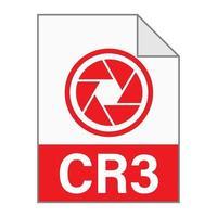 moderno design piatto dell'icona del file cr3 per il web vettore