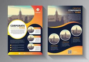 design brochure, copertina layout moderno, modello di rapporto annuale vettore
