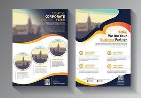 design brochure, copertina layout moderno, set di modelli di report annuale vettore