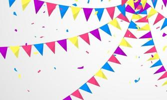 bandiera colorata concept design modello vacanza felice giorno, sfondo celebrazione illustrazione vettoriale. vettore