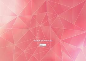 sfondo geometrico astratto rosa con poligoni vettore