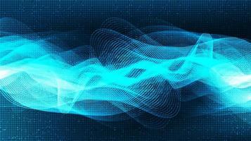 onda sonora digitale chiara e scura astratta con il vettore del fondo di tecnologia.