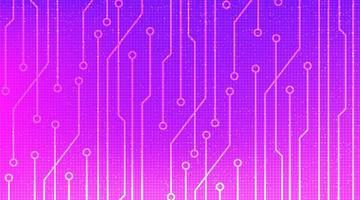 microchip rosa su sfondo tecnologico, design digitale hi-tech e concetto di sicurezza, spazio libero per il testo inserito, illustrazione vettoriale. vettore