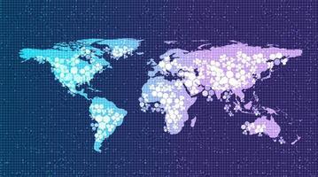fondo di tecnologia del sistema di rete globale digitale, progettazione di concetto di connessione e comunicazione, illustrazione di vettore. vettore