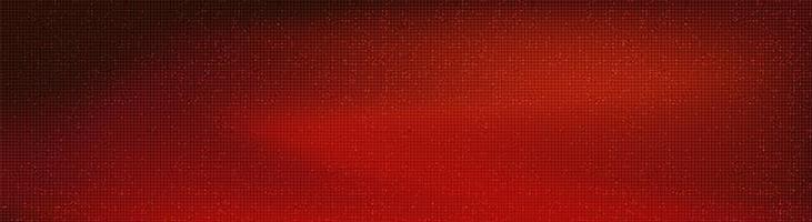 tecnologia microchip circuito rosso panorama su sfondo futuro, design concept digitale e comunicazione hi-tech, spazio libero per testo in put, illustrazione vettoriale. vettore