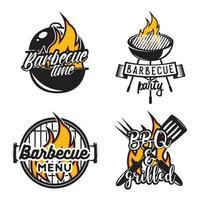 barbecue barbecue modello di disegno vettoriale