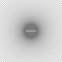 cerchio concentrico. illustrazione per l'onda sonora. modello di linea cerchio astratto. grafica in bianco e nero vettore