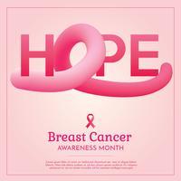 Disegno vettoriale di cancro al seno