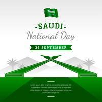 Festa nazionale saudita vettore