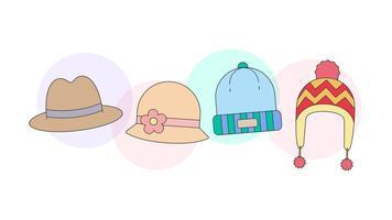 Vettore di cappelli
