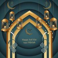 illustrazione grafica vettoriale del design realistico eid al fitr