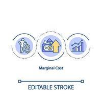 icona del concetto di costo marginale vettore