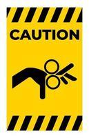 attenzione attenzione segno simbolo del rullo isolare su sfondo bianco vettore