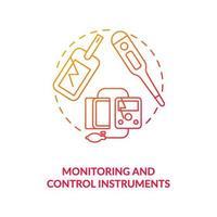 icona del concetto di strumenti di monitoraggio e controllo vettore