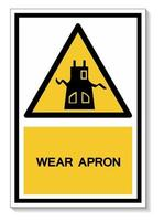 simbolo indossare grembiule vettore
