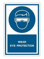 simbolo indossare occhiali di protezione segno vettore
