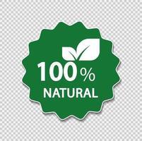 Etichetta naturale al 100%. illustrazione vettoriale. vettore