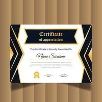 moderno certificato creativo di apprezzamento. modello di progettazione del certificato vettore