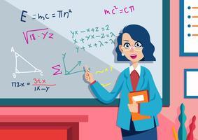 Insegnante di matematica vettore
