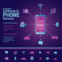 Elementi di infografica ultravioletti vettore