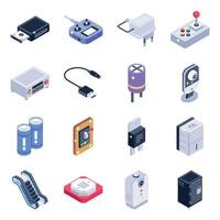 elementi di dispositivi elettrici vettore