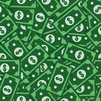 modello senza cuciture del dollaro. modello di dollaro di denaro per tessuto, vestiti per bambini, sfondo, tessile, carta da imballaggio e altre illustrazione di decoration.vector vettore