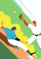 Illustrazione di vettore del parco di baseball