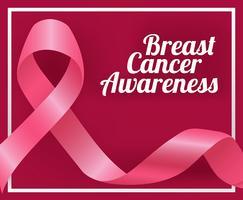 Illustrazione del nastro di consapevolezza del cancro al seno vettore