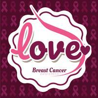 Disegno vettoriale di consapevolezza del cancro al seno