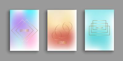 Modelli di brochure astratti con disegni a gradiente vettore