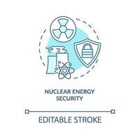 icona del concetto di sicurezza di energia nucleare vettore