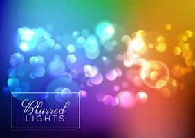 Bokeh sfocato sfondo di luci vettore