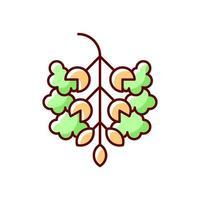 icona di colore rgb polline di pioppo vettore