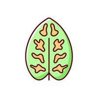 dieffenbachia rgb color icon vettore