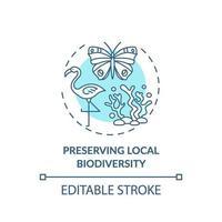 preservare l'icona del concetto di biodiversità locale vettore