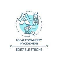 icona del concetto di coinvolgimento della comunità locale vettore