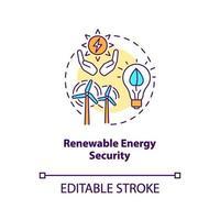 icona del concetto di sicurezza di energia rinnovabile vettore