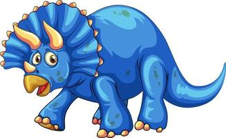 un personaggio dei cartoni animati di dinosauro triceratopo vettore