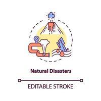 icona del concetto di disastri naturali vettore