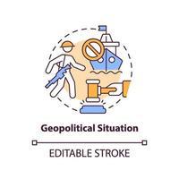 icona del concetto di situazione geopolitica vettore